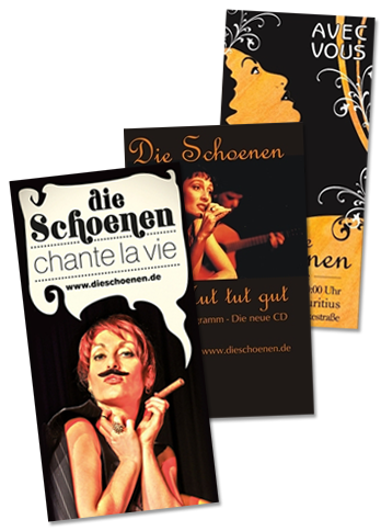 ältere-Schoenen-Plakate-Collage-Chanson-Programme